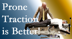 Severna Park spinal traction applied lying face down – prone – is best according to the latest research. Visit Back And Neck Care Center.