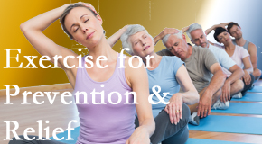 Back And Neck Care Center suggests exercise as a key part of the back pain and neck pain treatment plan for relief and prevention.