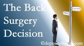Severna Park back surgery for a disc herniation is an option to be carefully studied before a decision is made to proceed.