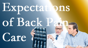 The pain relief expectations of Severna Park back pain patients influence their satisfaction with chiropractic care. What's realistic?