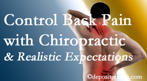 Back And Neck Care Center helps patients set realistic goals and find some control of their back pain and neck pain so it doesn't necessarily control them.