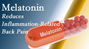 Back And Neck Care Center presents new findings that melatonin interrupts the inflammatory process in disc degeneration that causes back pain.