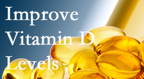 Back And Neck Care Center explains that it's beneficial to raise vitamin D levels.