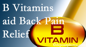 Back And Neck Care Center may include B vitamins in the Severna Park chiropractic treatment plan of back pain sufferers.