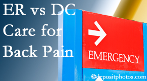 Back And Neck Care Center invites Severna Park back pain patients to the clinic instead of the emergency room for pain meds whenever possible.