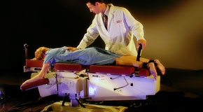 This is a picture of Cox Technic chiropratic spinal manipulation as performed at Back And Neck Care Center.