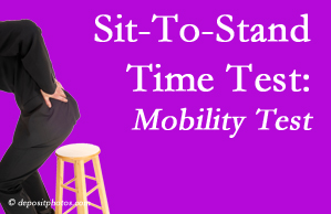 Severna Park chiropractic patients are encouraged to check their mobility via the sit-to-stand test…and improve mobility by doing it!