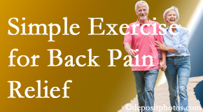 Back And Neck Care Center encourages simple exercise as part of the Severna Park chiropractic back pain relief plan.