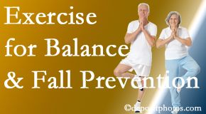 Severna Park chiropractic care of balance for fall prevention involves stabilizing and proprioceptive exercise.