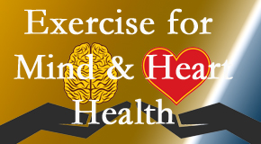 A healthy heart helps maintain a healthy mind, so Back And Neck Care Center encourages exercise.