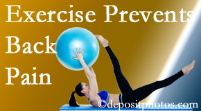 Back And Neck Care Center encourages Severna Park back pain prevention with exercise.