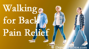 Back And Neck Care Center often recommends walking for Severna Park back pain sufferers.