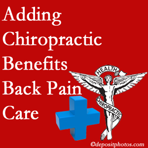 Added Severna Park chiropractic to back pain care plans helps back pain sufferers.