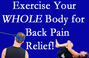 Severna Park chiropractic care includes exercise to help enhance back pain relief at Back And Neck Care Center.