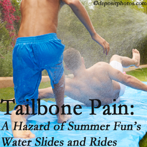 Back And Neck Care Center offers chiropractic manipulation to ease tailbone pain after a Severna Park water ride or water slide injury to the coccyx.