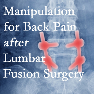 Severna Park chiropractic spinal manipulation helps post-surgical continued back pain patients discover relief of their pain despite fusion.