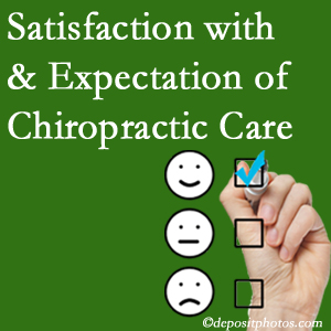 Severna Park chiropractic care provides patient satisfaction and meets patient expectations of pain relief.