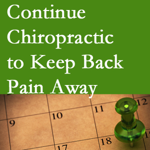 Continued Severna Park chiropractic care fosters back pain relief.