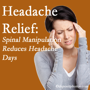 Severna Park chiropractic care at Back And Neck Care Center may reduce headache days each month.
