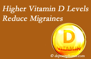 Back And Neck Care Center shares a new report that higher Vitamin D levels may reduce migraine headache incidence.